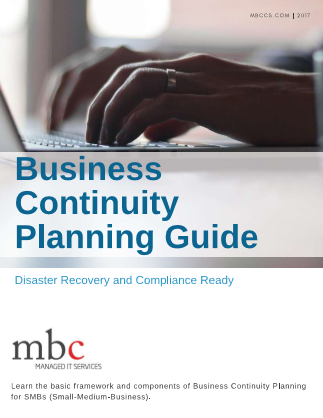 Business Continuity Planning Guide Cover