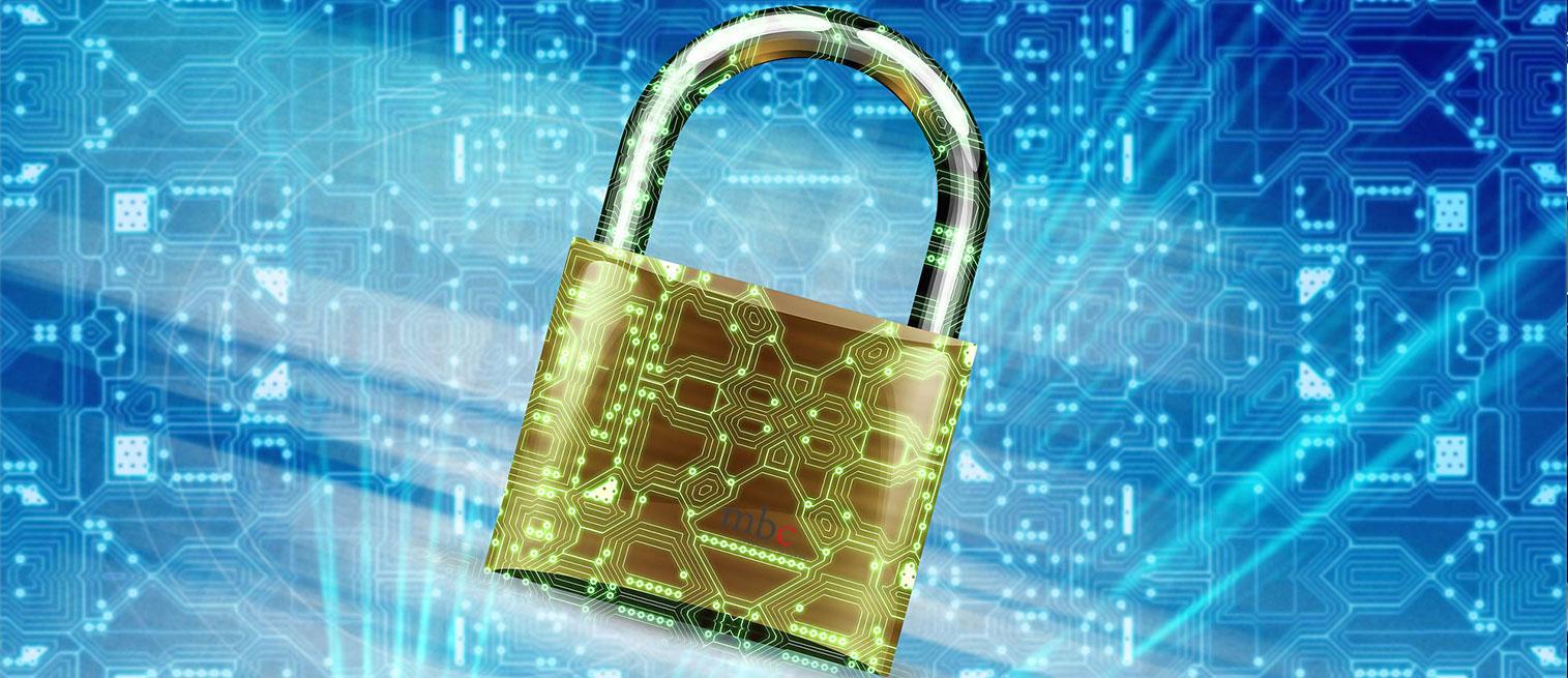 lock on tech background