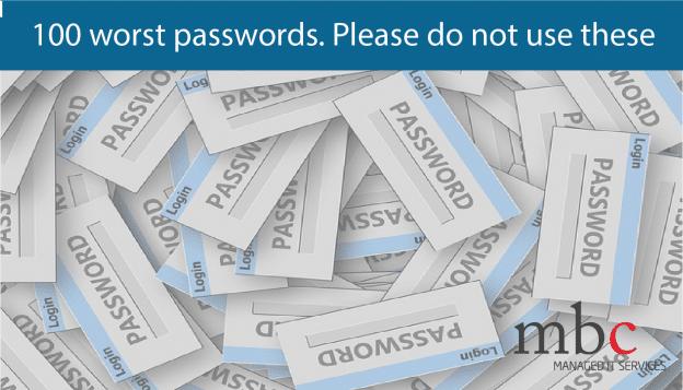 100 worst password