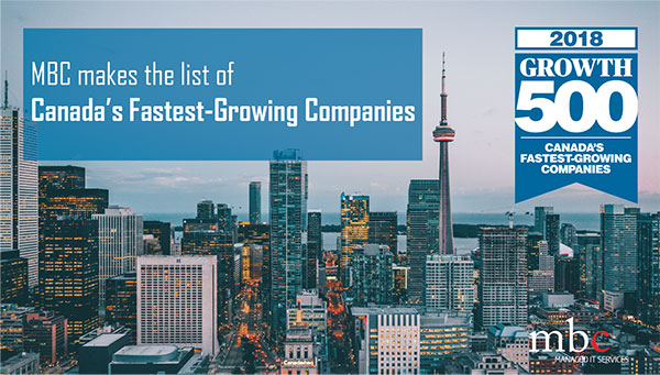 MBC One of Canada'a Fastest Growing Companies
