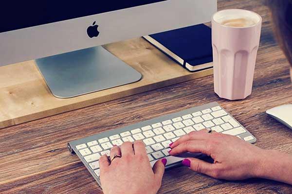 iMac and keyboard