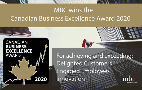 MBC wins Canadian Business Excellence award